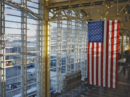Flag at National Airport, Washington, DC