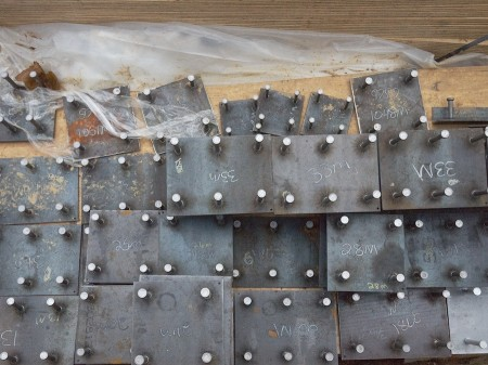 Construction materials (bolt plates).