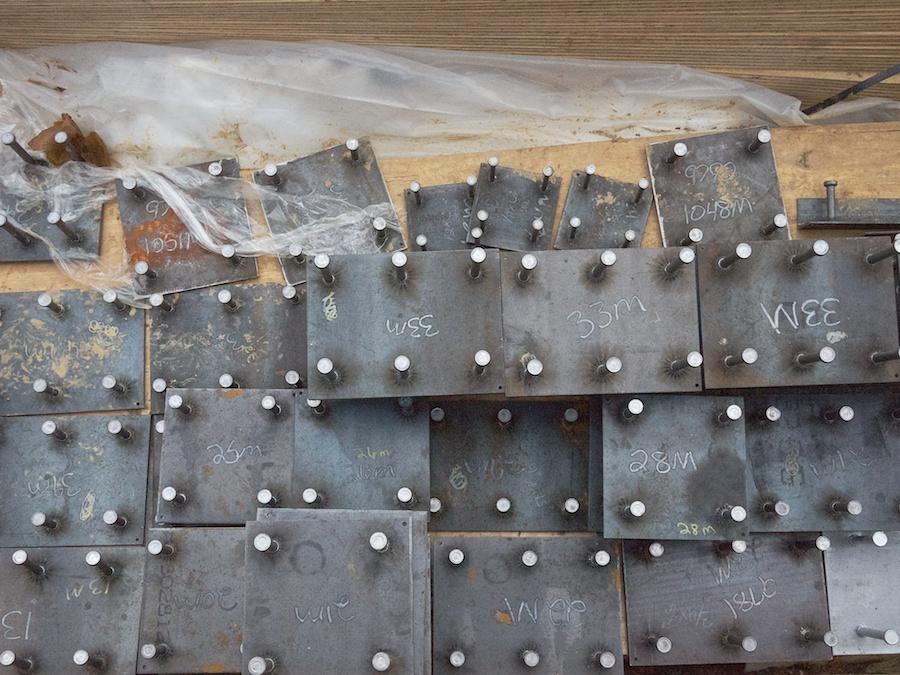 Construction materials (bolt plates).