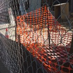 Construction site fencing.