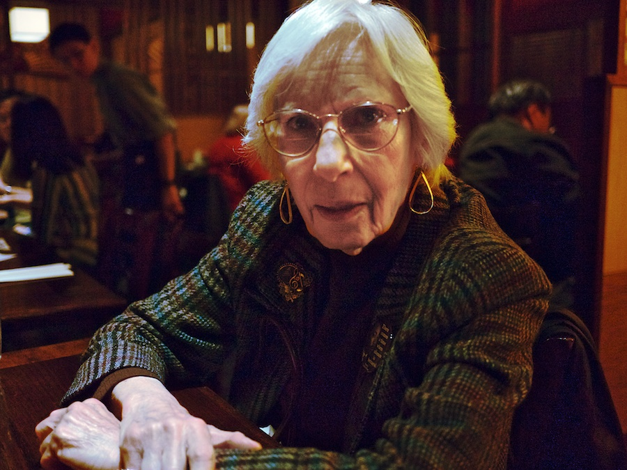 Older Lady at Japanese Restaurant
