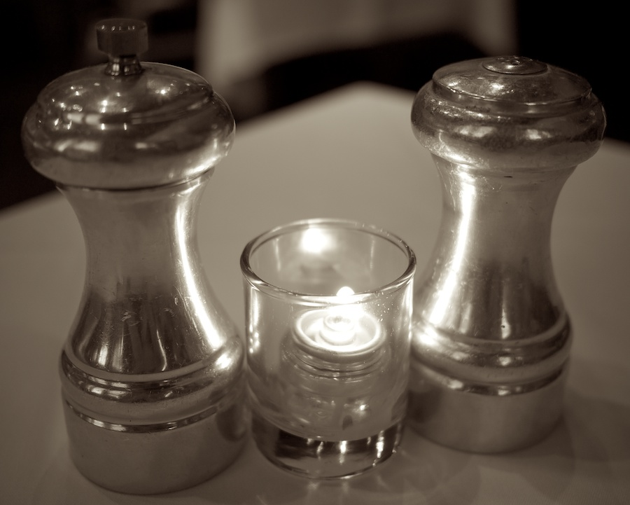 Salt & Pepper + Candle