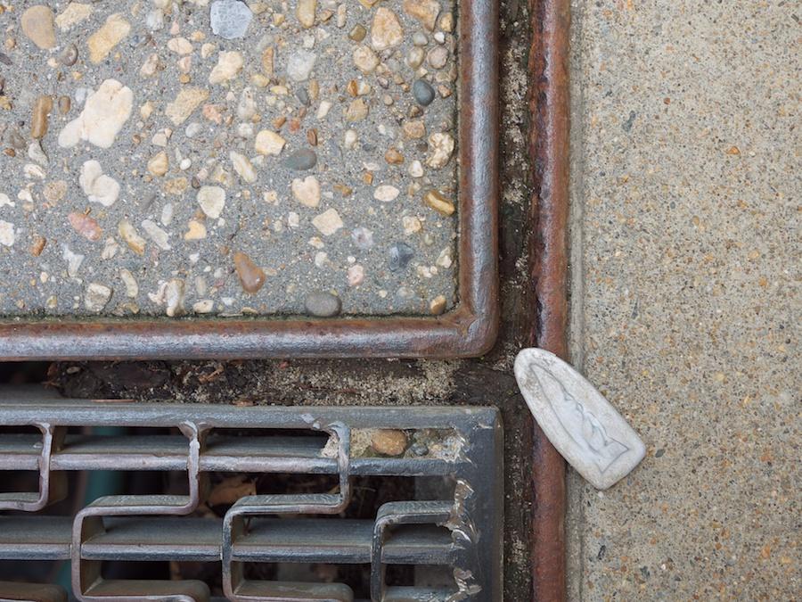 SIdewalk litter.