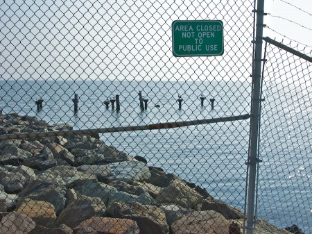 Security fence at Point Lookout State Park.