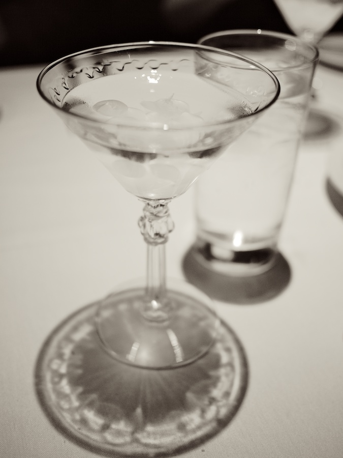 Classic Gibson as served at the Old Ebbitt Grill, Washington, DC