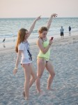 Girls posing on the beach, Captiva, FL