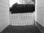 White picket fence at Mt. Vernon, Alexandria, VA
