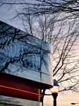 Silver Diner in Arlington, VA at sunset.