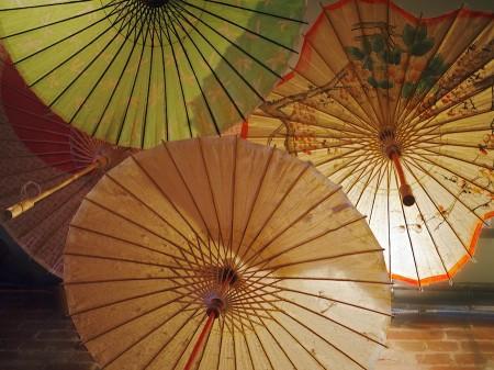 Decorative umbrellas.