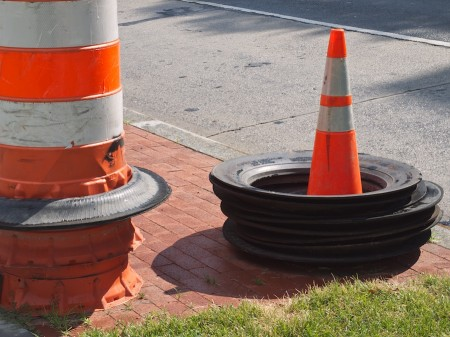 Cones and bumpers.