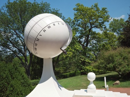 Sundial and cistern cap, Monticello, VA