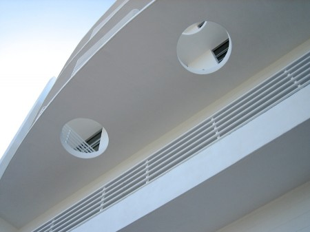 Building facade, South Beach, Miami