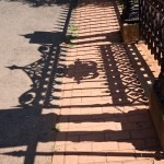 Graveyard fence shadow, Monticello, VA