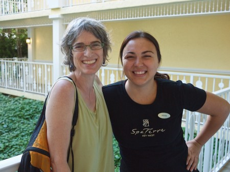 Amy and our awesome pedicure technician, Athena.