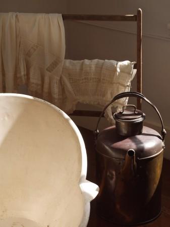 Bath items at Audubon House, Key West.