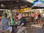 Outdoor bar and eatery by the wharf, Key West, FL