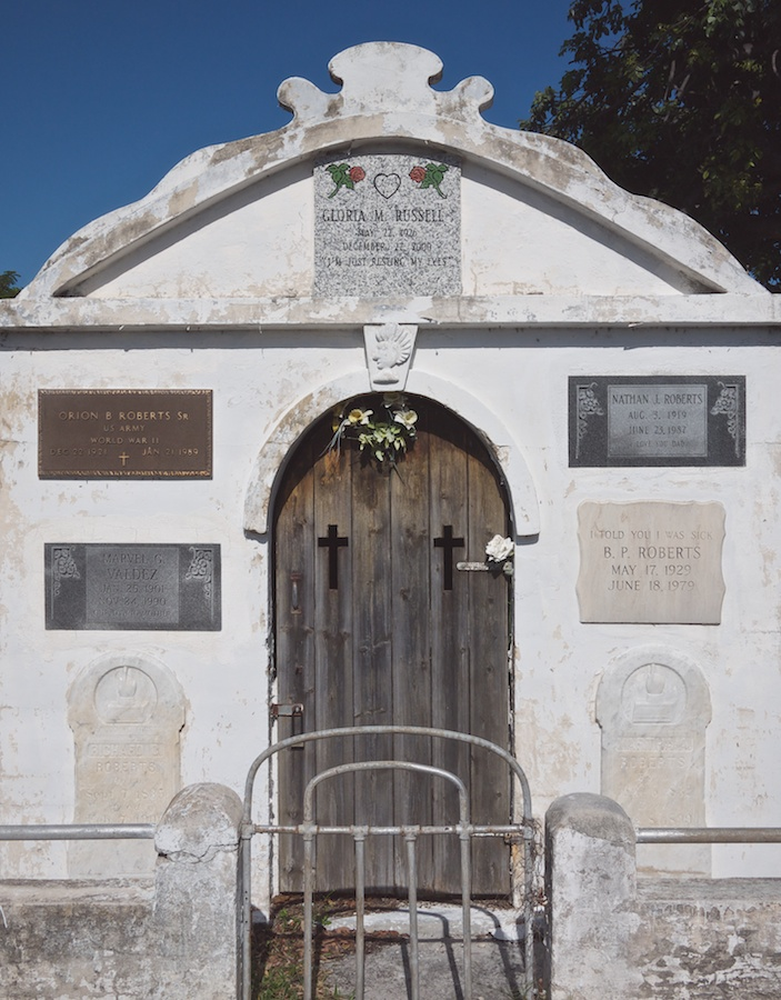 Mausoleum facade, Key West Cemetery