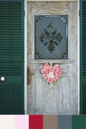 Key West front door with color palette.