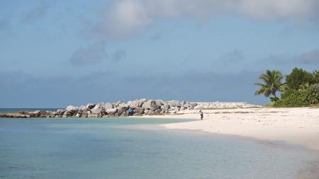 Figures on the beach, Key West, FL