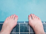 Poolside feet.