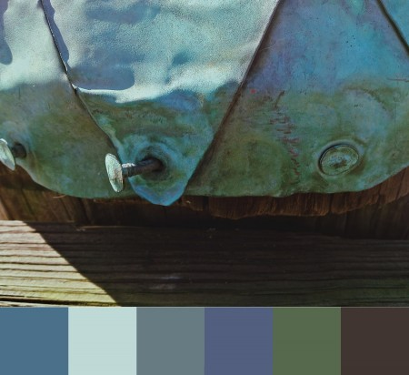 Color selections from a copper-clad pier, Annapolis, MD