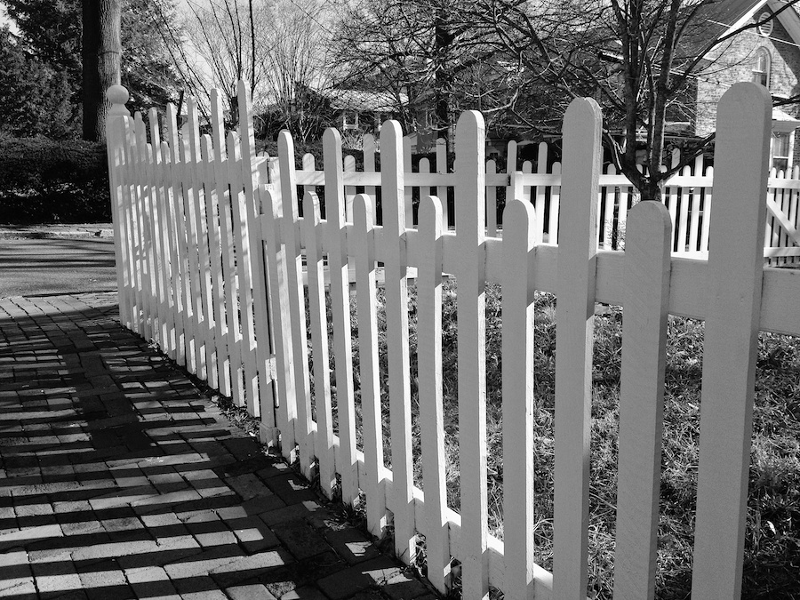 White picket fence, Annapolis, MD