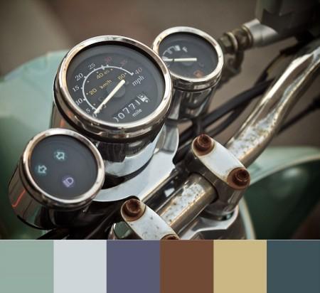 Vespa dials with color palette.