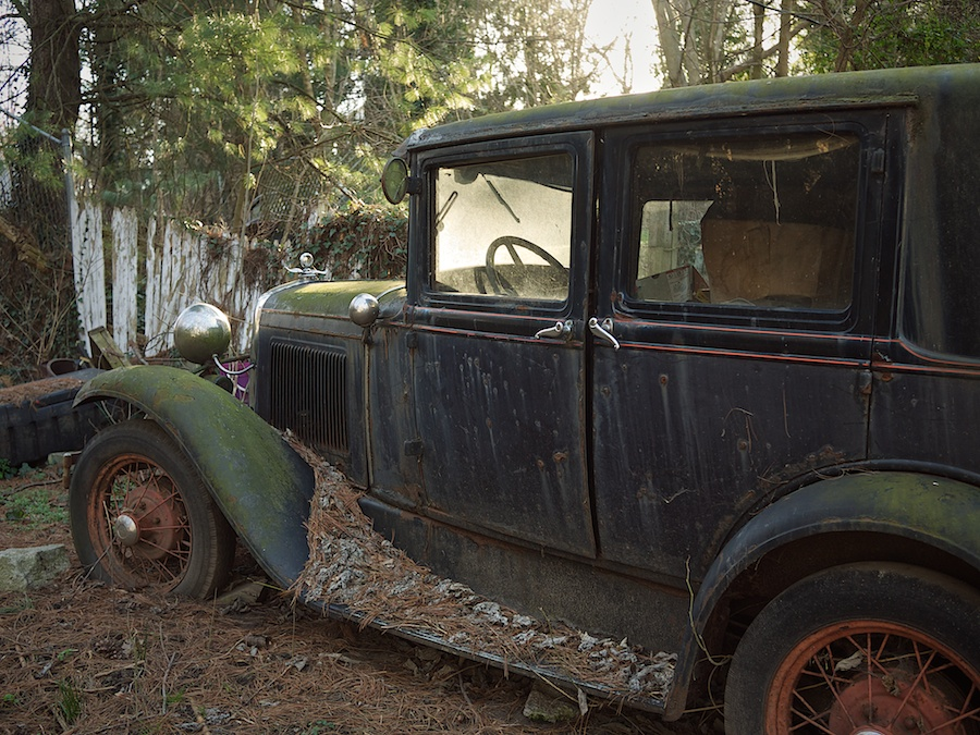 Decaying automobile, Harpers Ferry, WV