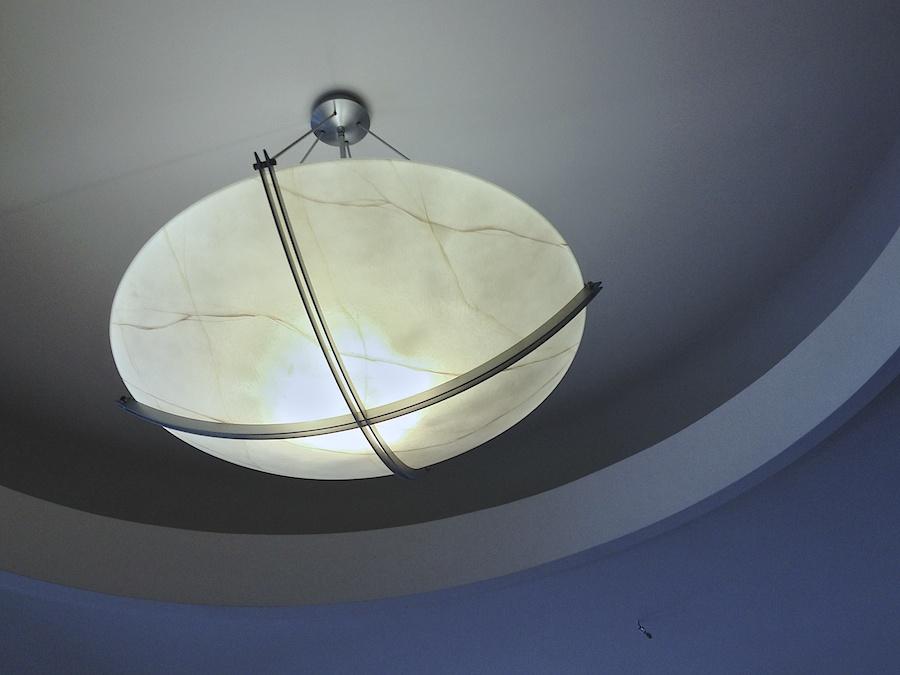 Ceiling light.