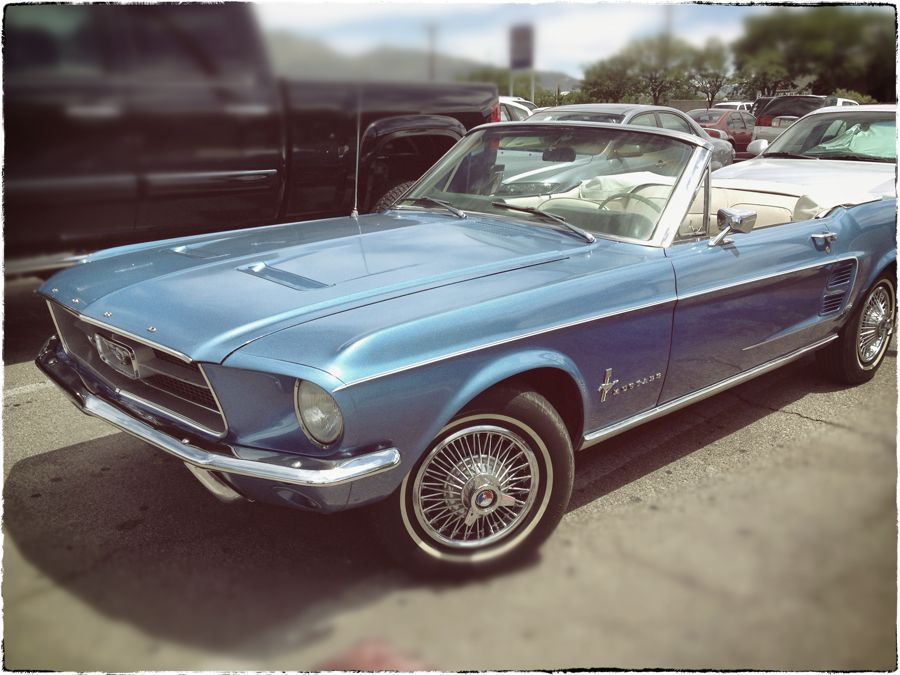 Vintage blue Mustang, ABQ