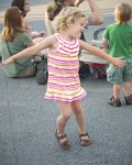 Girl dancing, Asheville, NC