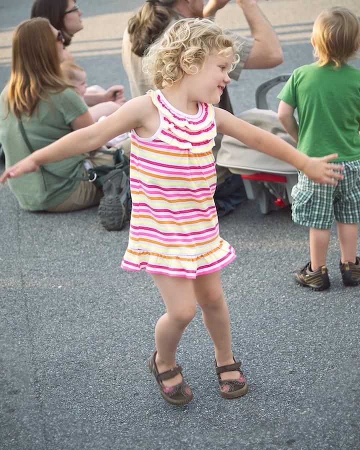 Girl dancing, Asheville, NC