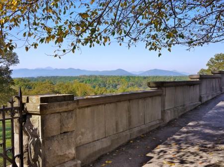 Balustrade and Mountains, Biltmore Estate, Asheville, NC