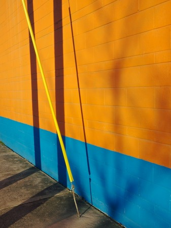 Color blocks and shadows, River Arts District, Asheville, NC