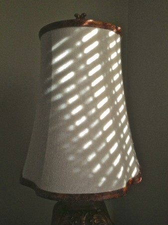 Lampshade with shadow pattern.