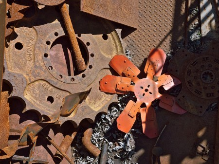 Gears and propellers gathering rust.
