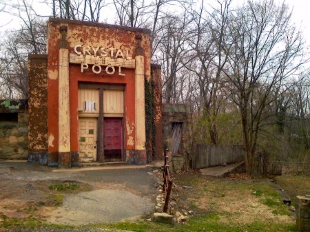 Crystal Pool, before restoration, Glen Echo Park, MD