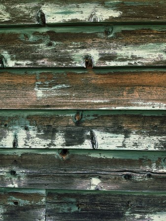 Painted wood siding.