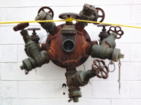 Industrial pipe outlet.