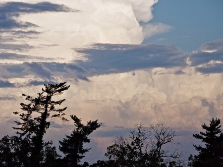 Early evening clouds, Asheville, NC