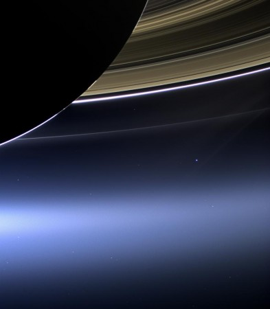 View of Earth from the rings of Saturn, Cassini spacecraft, via NASA