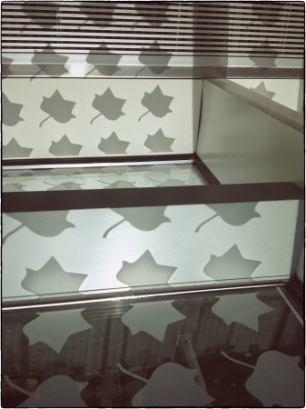 Glass and shadows at Knoxville airport, TN