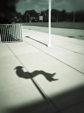 Sculpture shadow, Knoxville airport, TN